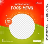 delicious banner food menu post | Shutterstock .eps vector #2018109782