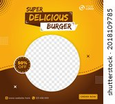 super delicious food menu... | Shutterstock .eps vector #2018109785