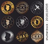 chad business metal stamps.... | Shutterstock .eps vector #2018110535
