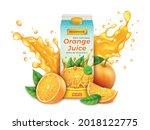 realistic detailed 3d orange...   Shutterstock .eps vector #2018122775