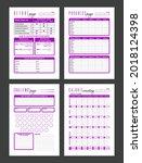 vector fitness planner page...   Shutterstock .eps vector #2018124398