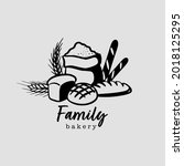 bread bakery logo. vector...   Shutterstock .eps vector #2018125295