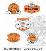 set of vintage badge logo icon...   Shutterstock .eps vector #2018141795