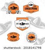 set of vintage badge logo icon...   Shutterstock .eps vector #2018141798