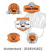 set of vintage badge logo icon...   Shutterstock .eps vector #2018141822