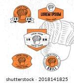 set of vintage badge logo icon...   Shutterstock .eps vector #2018141825