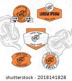 set of vintage badge logo icon...   Shutterstock .eps vector #2018141828