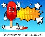 ice cream with hands in rocker...   Shutterstock .eps vector #2018160395