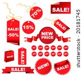 christmas  sale tags for you... | Shutterstock .eps vector #20181745