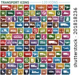 transport flat icon  stickers... | Shutterstock .eps vector #201818236