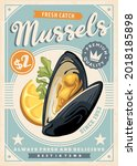 mussels retro graphic...   Shutterstock .eps vector #2018185898