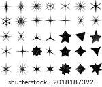 grunge textured stars... | Shutterstock .eps vector #2018187392