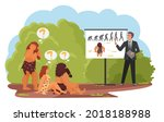 primitive tribe people training ... | Shutterstock .eps vector #2018188988