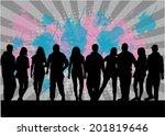 group of people | Shutterstock .eps vector #201819646