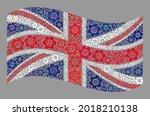 mosaic waving united kingdom... | Shutterstock .eps vector #2018210138
