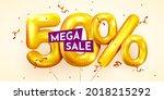 50 percent off. discount...   Shutterstock .eps vector #2018215292