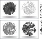 grunge circles | Shutterstock .eps vector #201822226