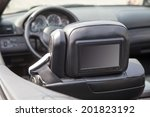 multimedia backseat screen in a ... | Shutterstock . vector #201823192