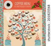 the coffee menu infographics ... | Shutterstock .eps vector #201825568
