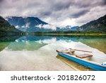 beautiful lake in high alps... | Shutterstock . vector #201826072