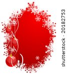 beautiful christmas background. ... | Shutterstock .eps vector #20182753