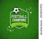 soccer football poster. soccer... | Shutterstock .eps vector #201831952
