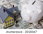 house with twenty dollar bills... | Shutterstock . vector #2018367