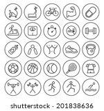 set of universal minimal simple ... | Shutterstock .eps vector #201838636