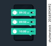 wake up time settings. alarm...