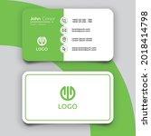 minimalist green business card...