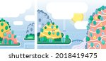 two vector backgrounds in a... | Shutterstock .eps vector #2018419475
