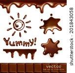 set of chocolate drops  vector...   Shutterstock .eps vector #201843058