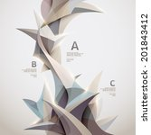 background of 3d geometric... | Shutterstock .eps vector #201843412