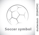 soccer symbol icon isolated... | Shutterstock .eps vector #201845542