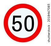 Road Sign Tempo 50 ...