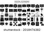 digital economy black filled...