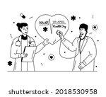 a glyph line illustration of... | Shutterstock .eps vector #2018530958