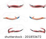 vehicle graphics  stripe  ... | Shutterstock .eps vector #201853672
