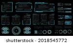 hud futuristic user interface...   Shutterstock .eps vector #2018545772