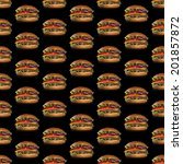 seamless pattern of the burgers ... | Shutterstock . vector #201857872