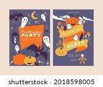 vector illustration halloween...   Shutterstock .eps vector #2018598005