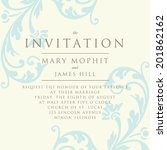 invitation with a rich... | Shutterstock .eps vector #201862162