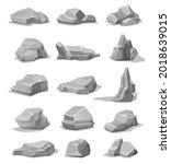 cartoon rock stones and...