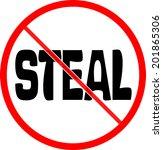 forbidden sign  no steal | Shutterstock . vector #201865306