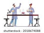chemists invent medicine or... | Shutterstock .eps vector #2018674088
