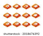 set xls file document  png  wav ... | Shutterstock .eps vector #2018676392