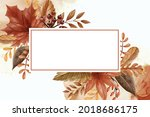 leaf and berry autumn fall...   Shutterstock .eps vector #2018686175