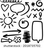 doodle hand drawn vector pack... | Shutterstock .eps vector #2018735702