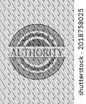 authority silver color emblem...   Shutterstock .eps vector #2018758025