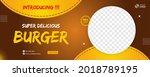 delicious burger food banner... | Shutterstock .eps vector #2018789195